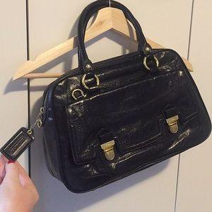 NWOT Coach Poppy Pushlock Satchel Handbag 17888